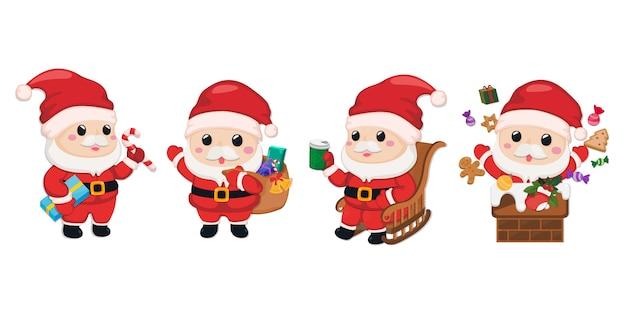 サンタクロースのキャラクターのセット