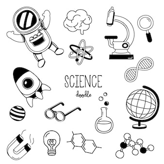 手描きスタイルの科学。科学の落書き。