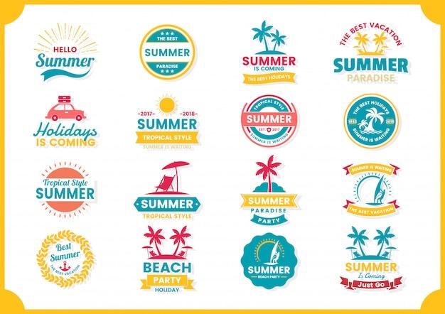 バナーの夏レトロなベクトル