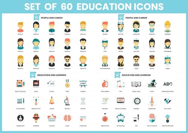 ビジネスの教育アイコンを設定します