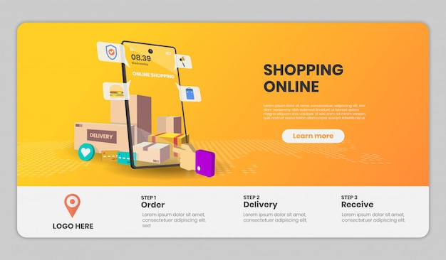 Целевая страница шаблона интернет-магазина