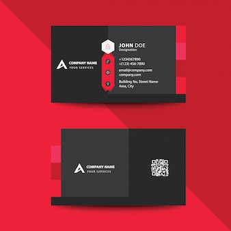 クリーンフラットプレミアムレッドフォールドスタイルコーポレートビジネス訪問カード