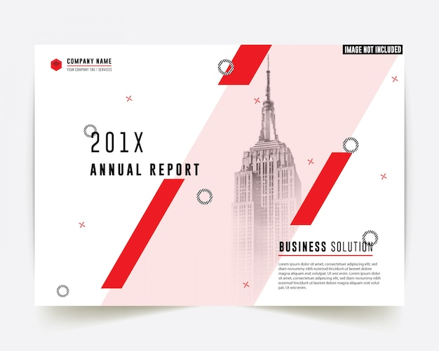 コーポレートスタイルレッドカラービジネスパンフレットアニュアルレポート