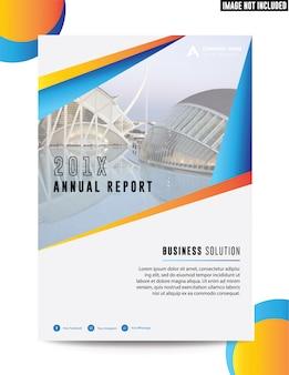 クリーンフラットコーポレートビジネスアニュアルレポート