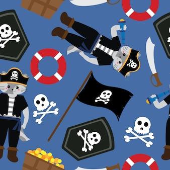 海賊柄のデザイン
