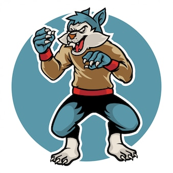ハロウィーンの恐ろしいオオカミはあなたに襲い掛かる準備ができて