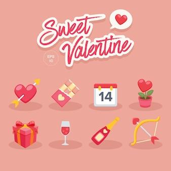 甘いバレンタイン要素のコレクション