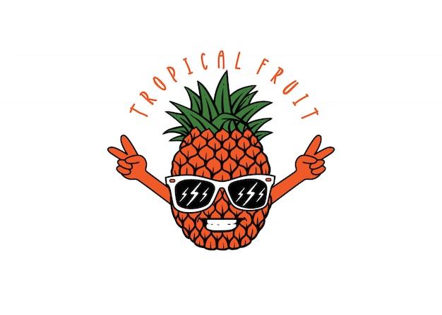 パイナップルキャラクターロゴ