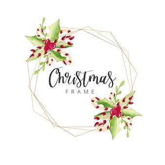 水彩クリスマスフレーム