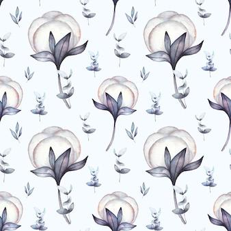 水彩綿のパターン