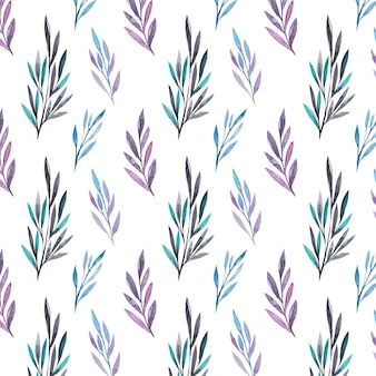 水彩の葉のパターン