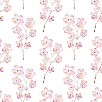 水彩桜のシームレスパターン