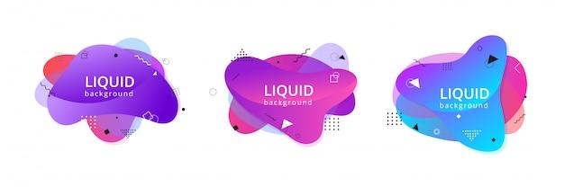 抽象的な液体の形