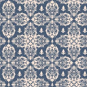 ロイヤルビクトリア朝のシームレスパターン。ダマスク織ロイヤルパターン