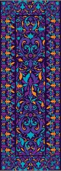 ペルシャ絨毯の質感。中東の伝統的なカーペットのデザイン