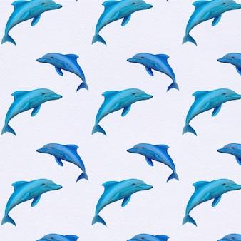 Фон с дельфинами