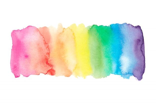 水彩虹の背景。