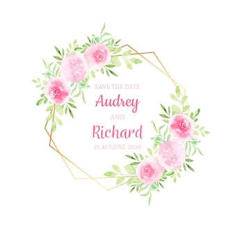 Акварельные цветы, свадебные приглашения