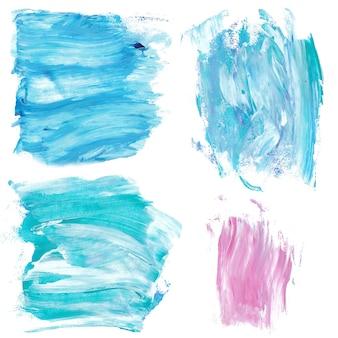 青とピンクの大理石の塗料が飛び散る。大理石の背景テクスチャ