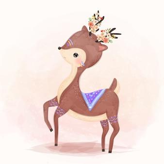 Очаровательная иллюстрация оленей для детей