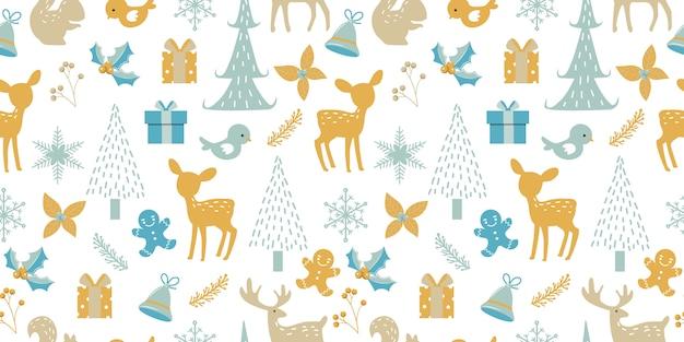 Рождество бесшовные модели для украшения