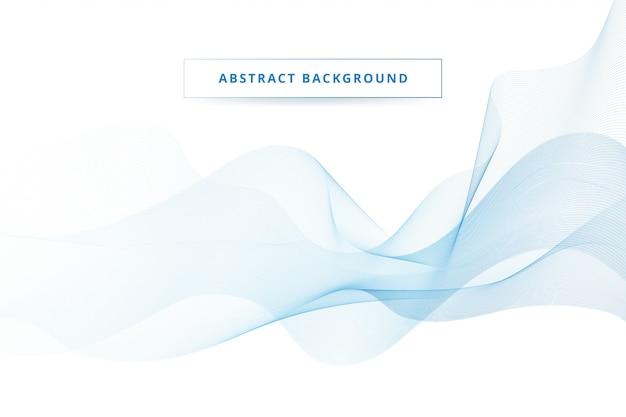 背景を流れる抽象的な青い波
