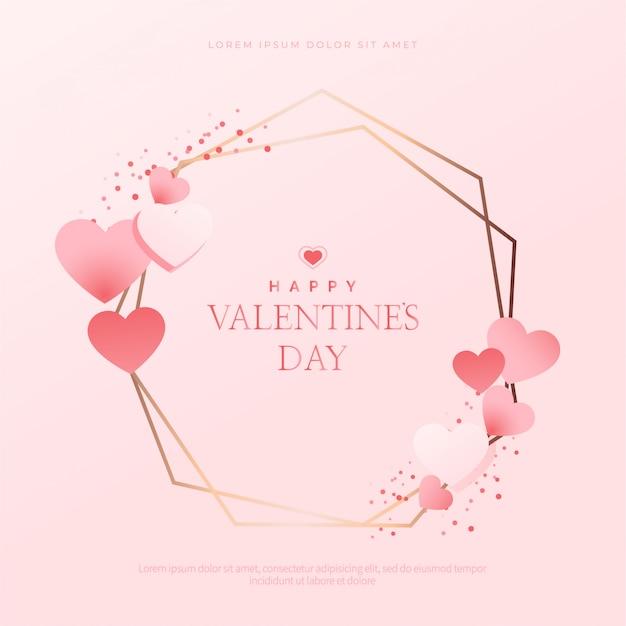 Прекрасная рамка с сердечками на день святого валентина