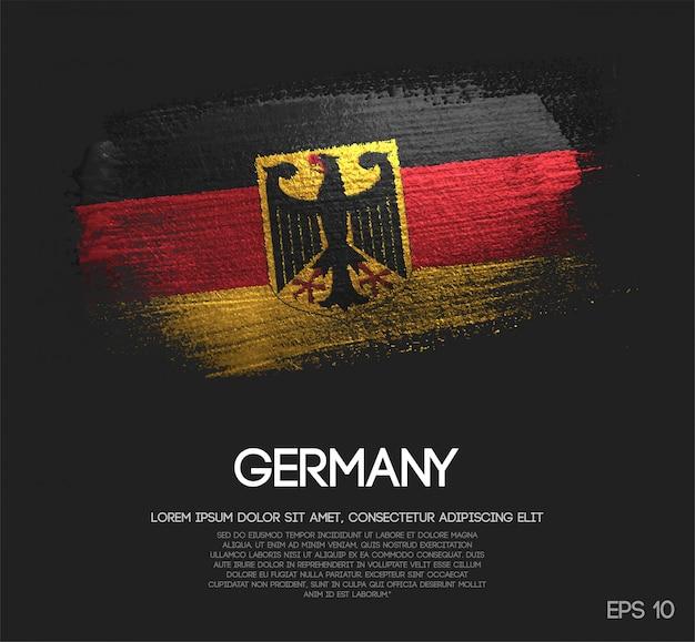 グリッタースパークルブラシペイント製のドイツ国旗