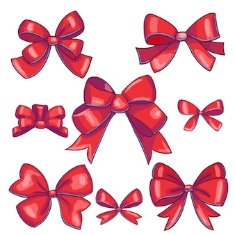 赤い弓のコレクション