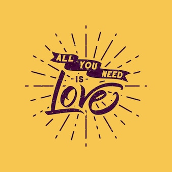 愛の引用符のデザイン