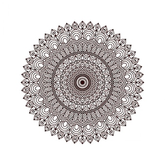 花の曼荼羅の背景デザイン
