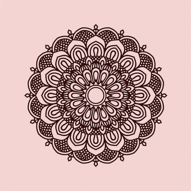 美しい曼荼羅の背景デザイン