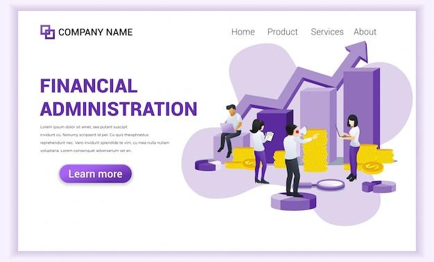 Концепция финансового управления с персонажами.