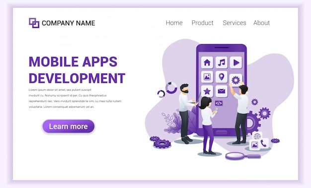 モバイルアプリ開発のランディングページ