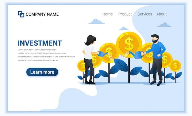 Финансовый шаблон целевой страницы