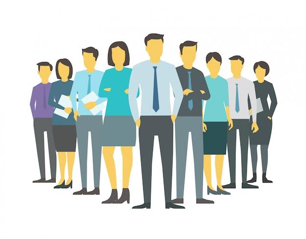 Лидер босс, директор команды, компания, бизнес-группа, люди, офисные клерки. обучение финансов иллюстрации запасов.
