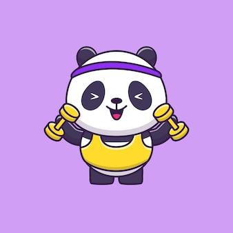 かわいいパンダジムアニマルスポーツ