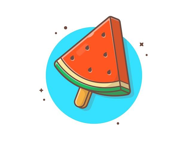 夏のスイカアイスクリーム