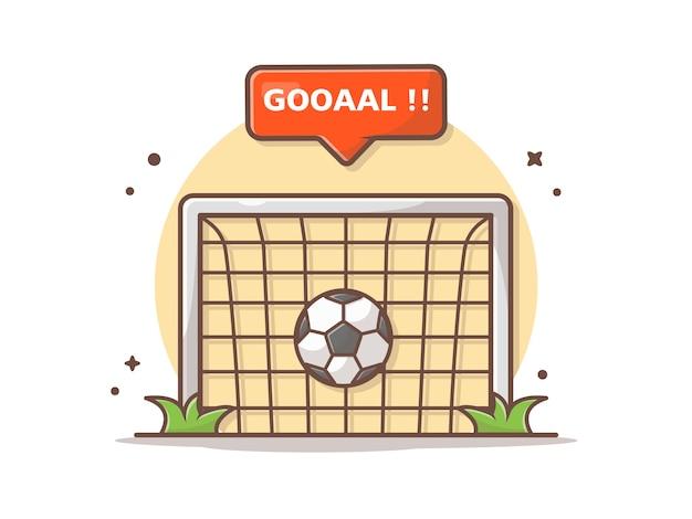 Чистая цель с иллюстрацией значка знака цели