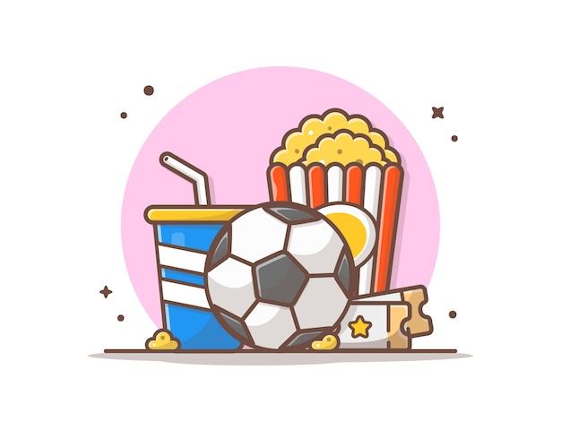 サッカーの試合のアイコンを見て