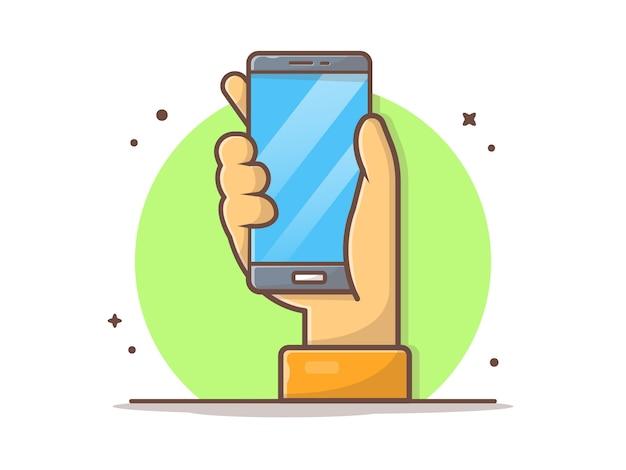 Рука держа смартфон