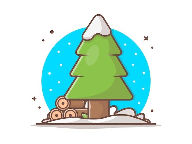 松の木の冬の季節