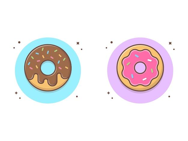 Пончики вектор значок иллюстрации