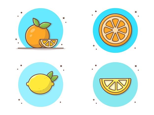 オレンジ色のベクトルコレクションアイコンイラスト