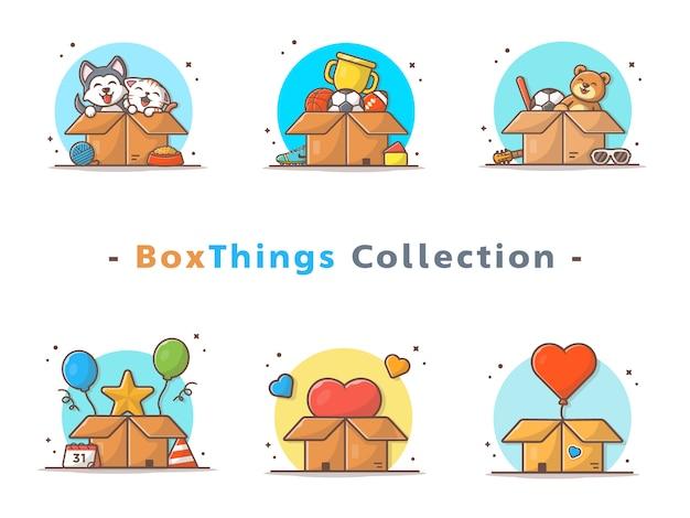 Коробка вещи коллекция
