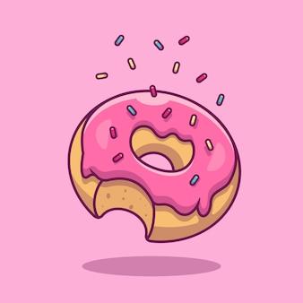Пончик иконка. коллекция быстрого питания. изолированный значок еды