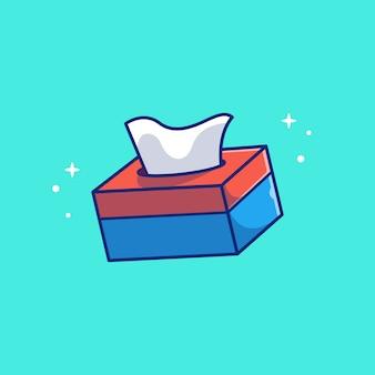 Иллюстрация значок коробки ткани. концепция здравоохранения и медицинской значок