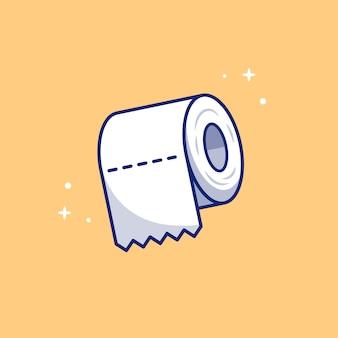 Туалетная бумага рулон значок иллюстрации. концепция здравоохранения и медицинской значок