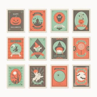 Почтовая марка на хэллоуин