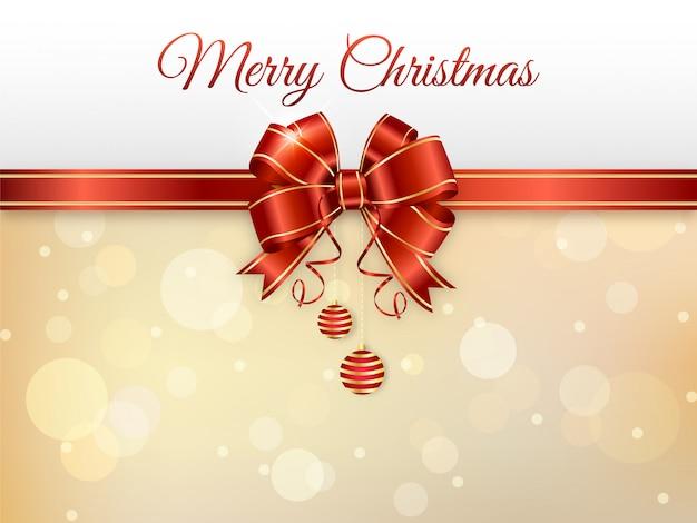 Элегантная веселая рождественская открытка